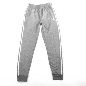 Boys Adidas GrayTapered Leg Sweatpants Size 14-16